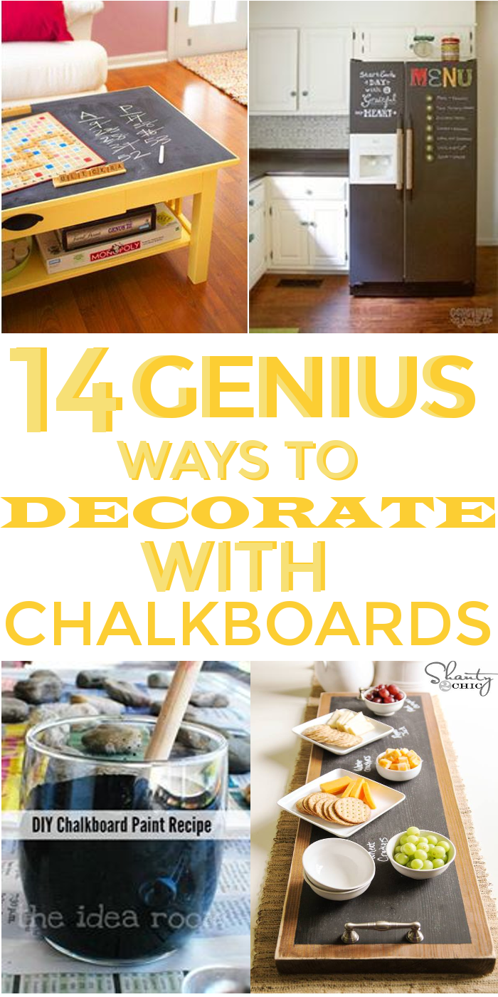 14 Genius Ways to decorate with Chalkboards | Diy chalkboard ...