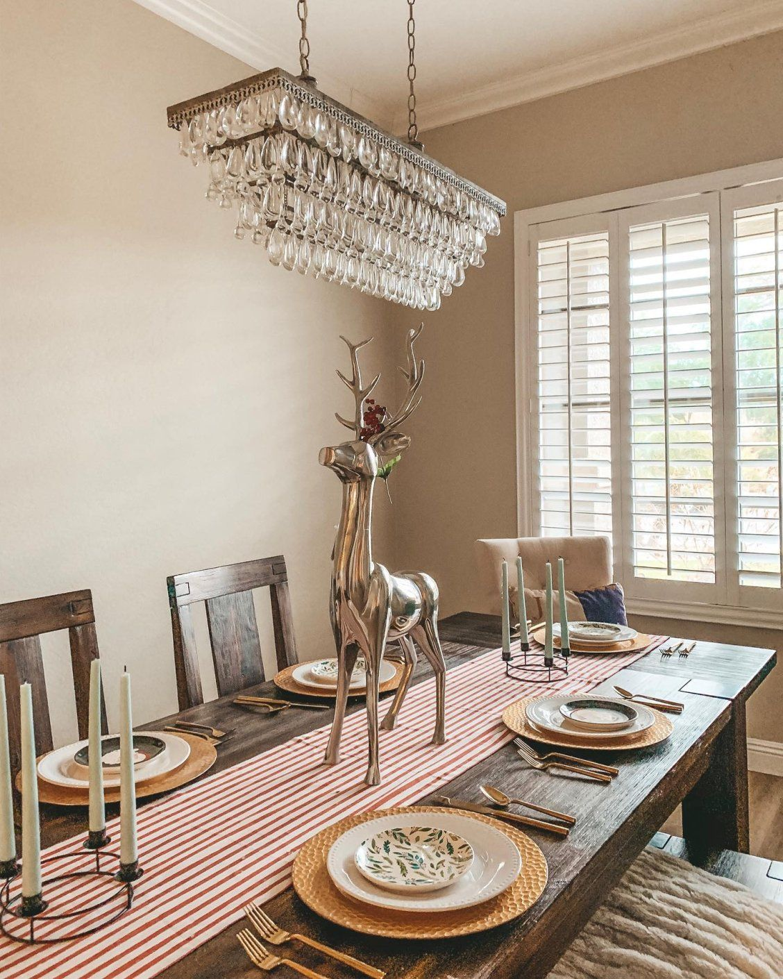 Can your dining décor be over the top? Uh, yes anything