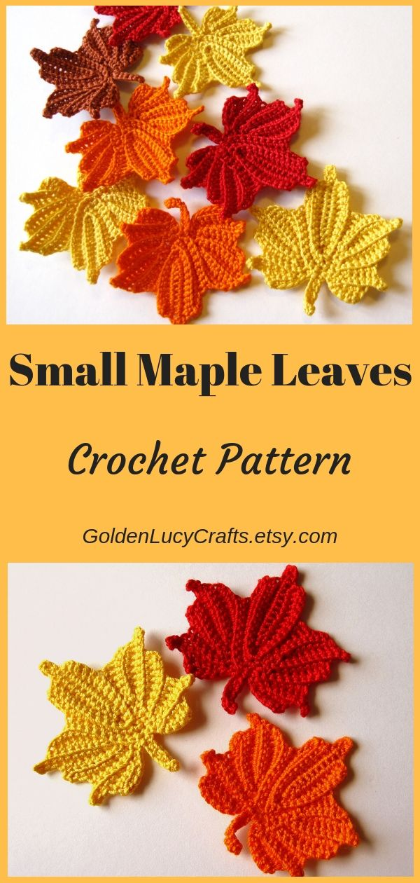 Crochet Maple Leaves Crochet Pattern Crochet Leaf Maple Leaves