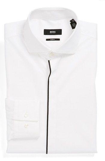 BOSS HUGO BOSS 'Jamison' Slim Fit Dress Shirt available at #Nordstrom
