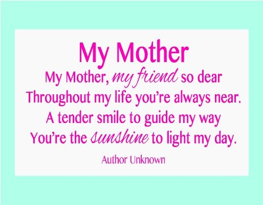 6 short mother s day poems poem mom poems and thoughts for Short poems for daughters from mothers