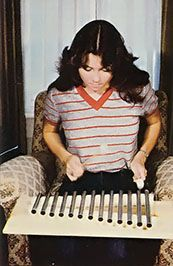 This homemade xylophone might be handcrafted but it looks - and sounds - like the top of the line. Originally published as