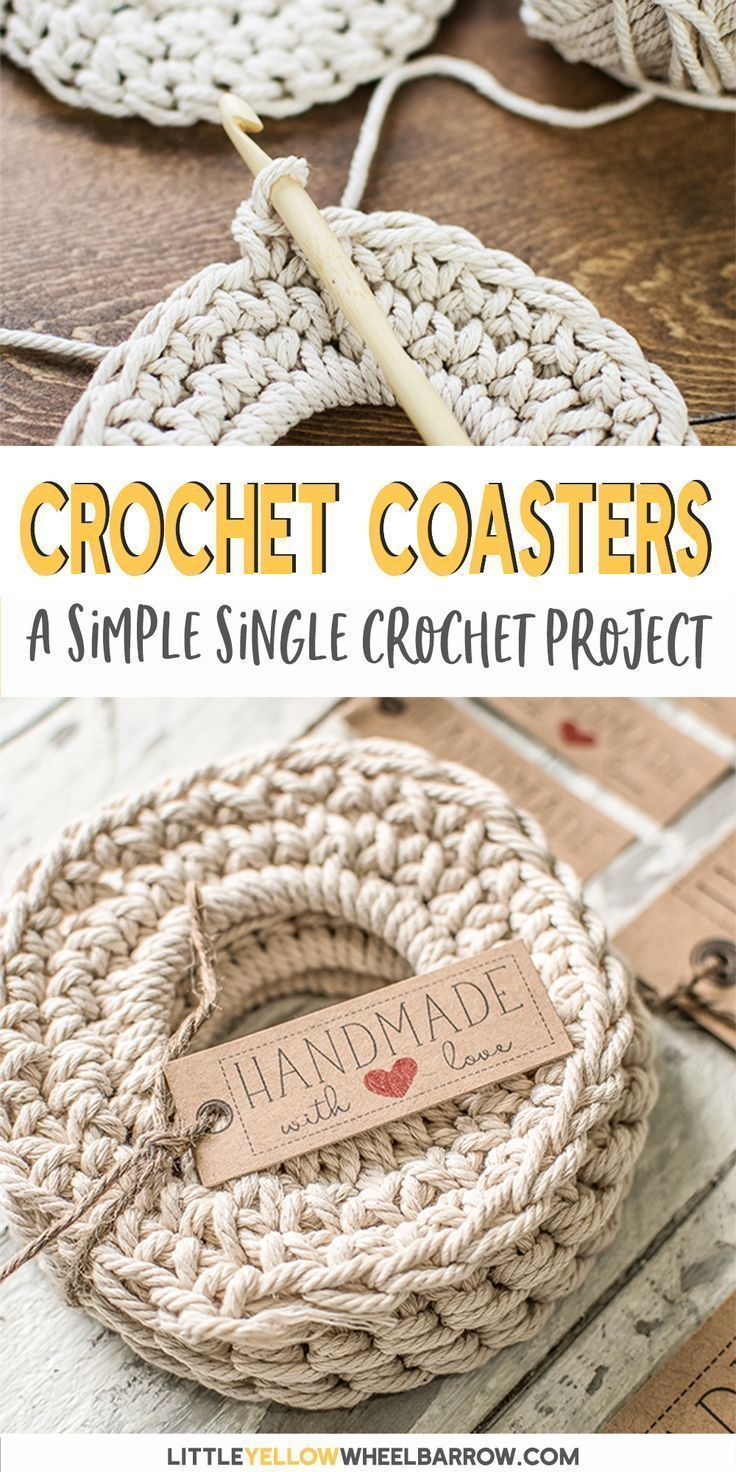 Free Crochet Coaster Pattern (Single Crochet Stitch)