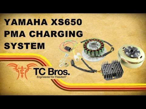 Yamaha XS650 Not charging. Testing the rotor How the charging system on