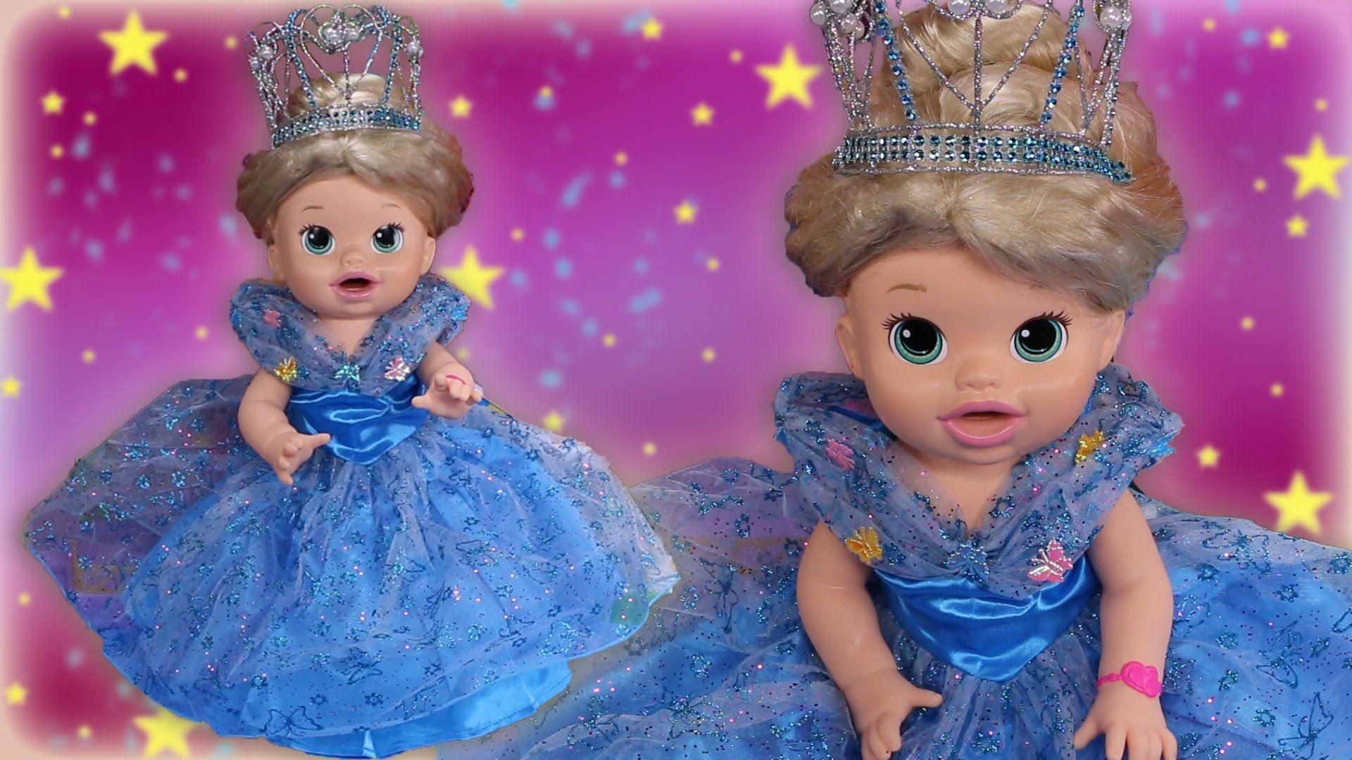 Cinderella Custom Baby Alive Disney Princess Poops Eats Play Doh Toys Surprises Baby Alive Custom Baby Play Doh Toys