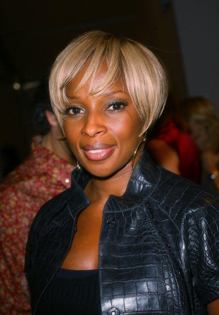 Mary J. Blige Short Side Part