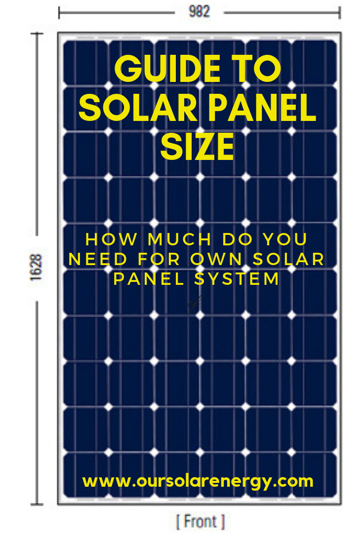 Guide To Solar Panel Size How Much Do You Need For Own Solar Panel System Energia Renovable Energia Solar Energia Alternativa