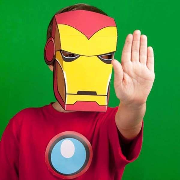 Diy Superhero Masks Iron Man Iron Man Mask Printable Halloween Masks