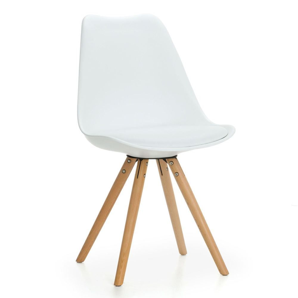 Details About Set Of 4 Tulip Star Dining Chair With