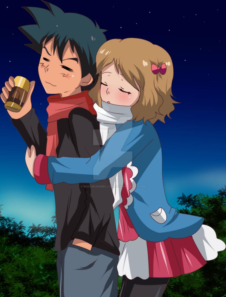 amourshipping hug part2 by hikariangelove on DeviantArt em