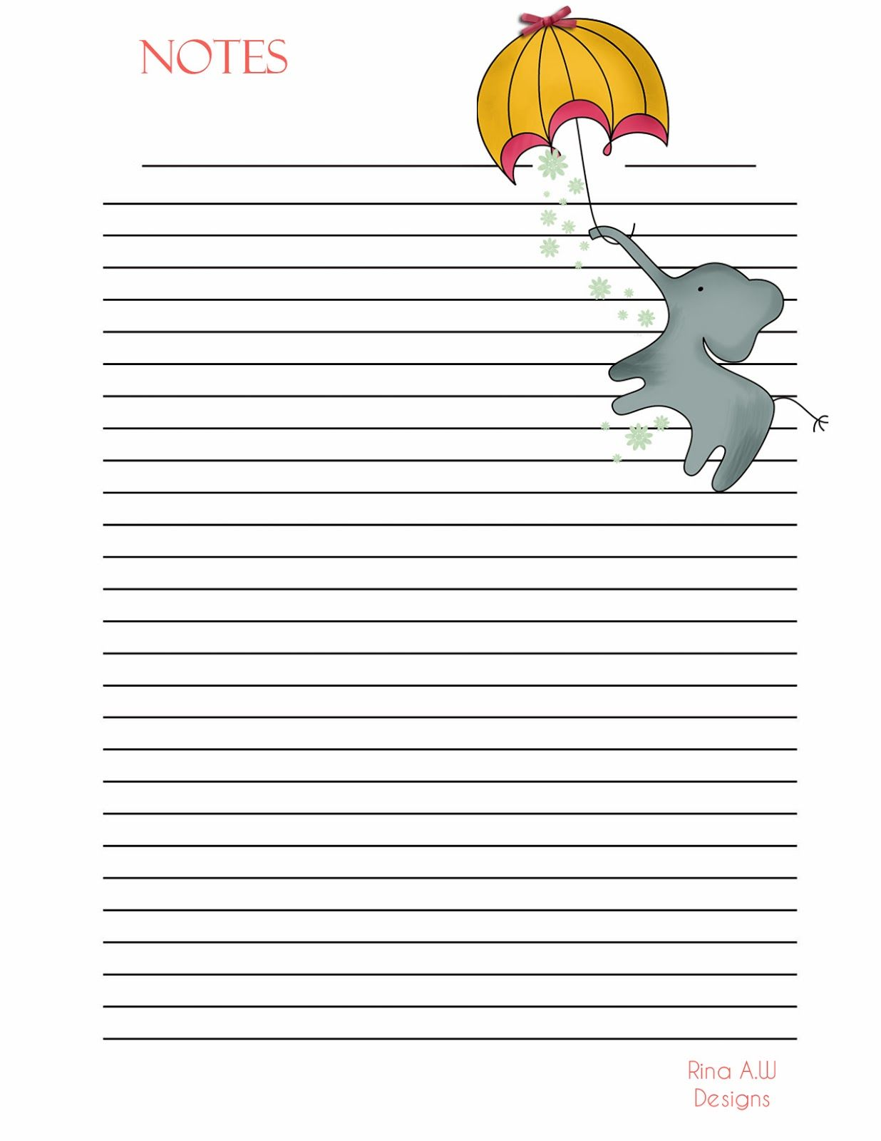 rina loves: free note paper printable | printables | pinterest