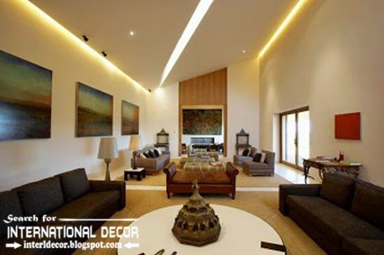 Contemporary Pop False Ceiling Designs Ideas 2015 Led Lighting For Modern Living Room