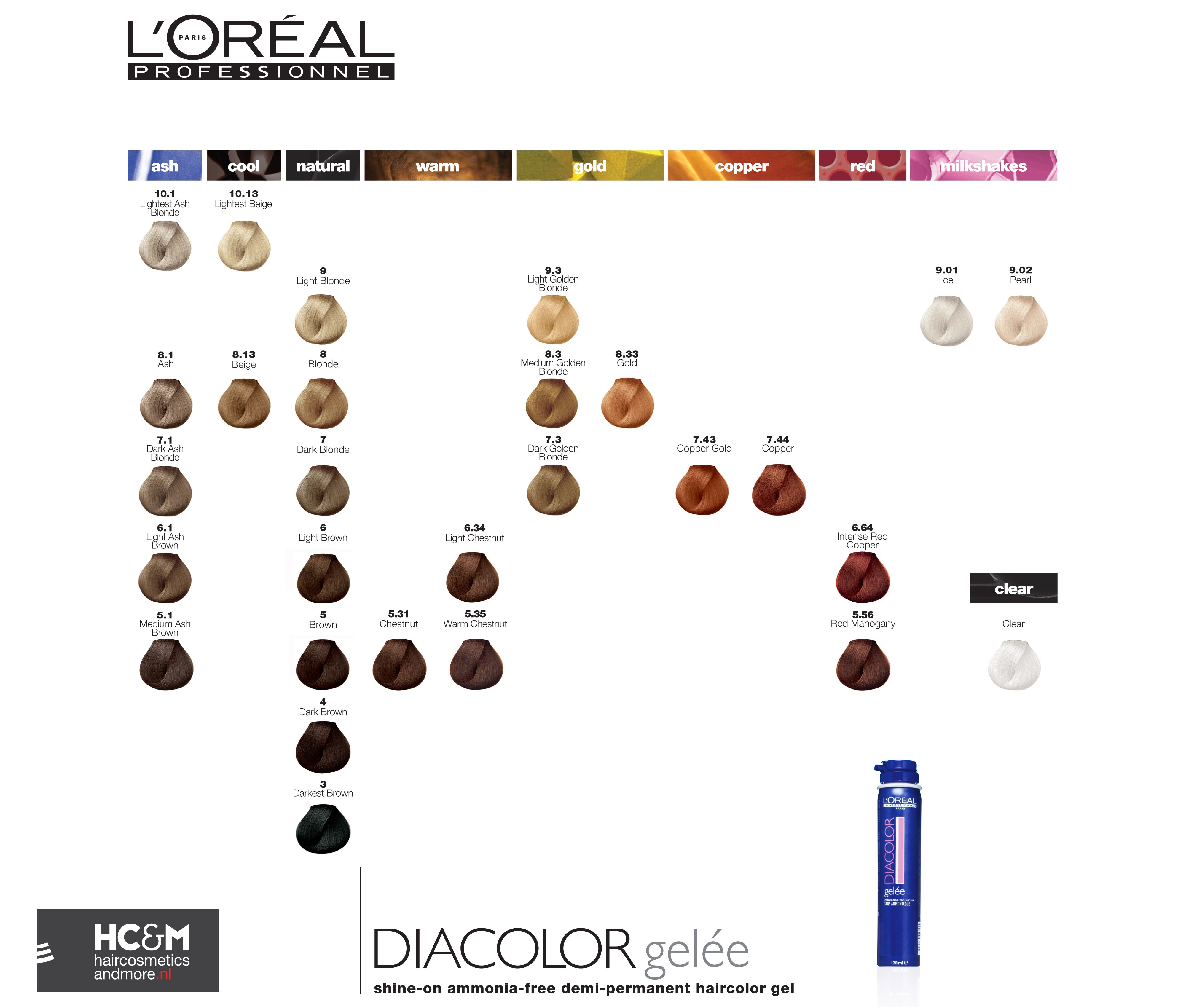 Loral professionnel diacolor gele shine on ammonia free demi colour chart loral professionnel diacolor gele shine on ammonia free demi permanent haircolor nvjuhfo Images