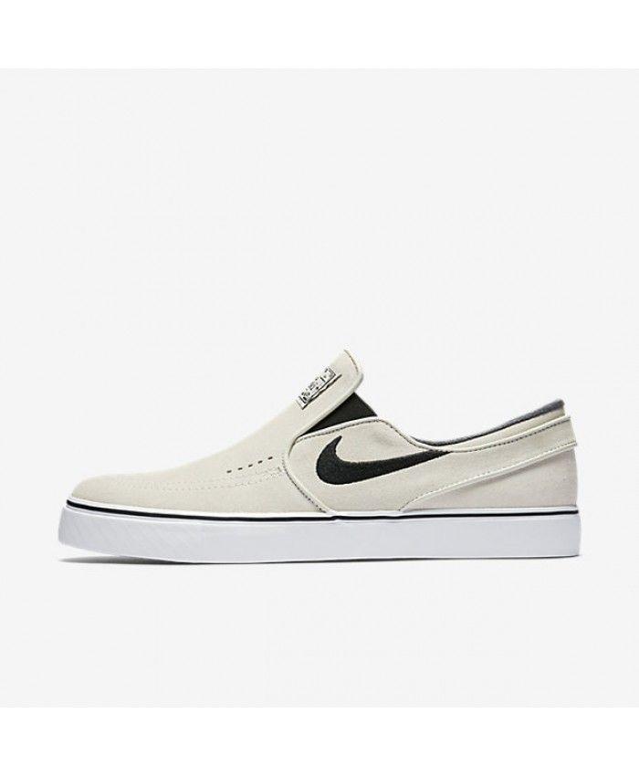 Nike SB Zoom Stefan Janoski Slip-On Light Bone White Black Black 833564-002