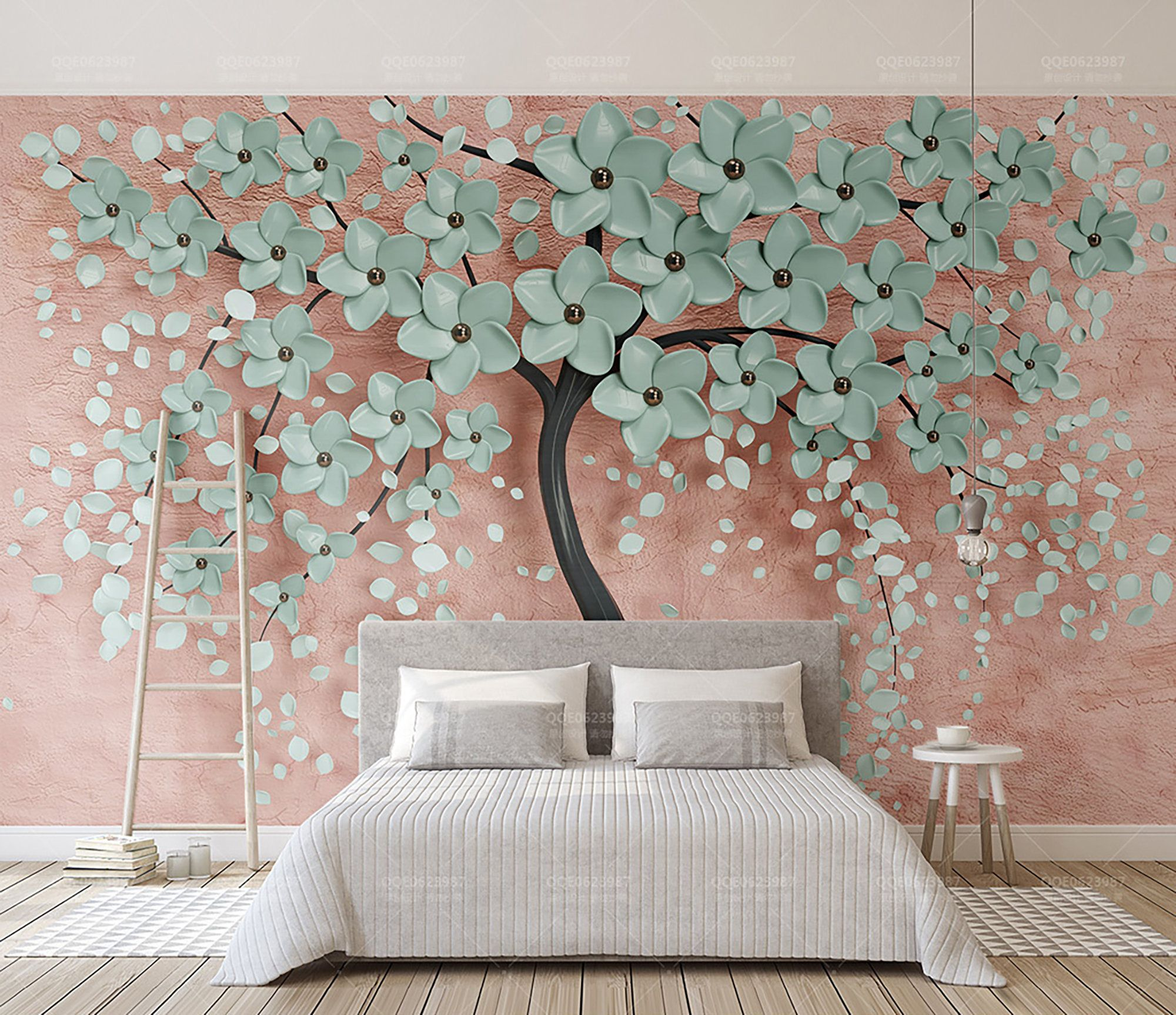 3d Tree Floral Wallpaper Big Tree Wall Mural Modern Wall Art Home Decor For Living Room Bedroom Entryway Cafe Tree Wall Murals Wall Wallpaper Large Wall Paintings