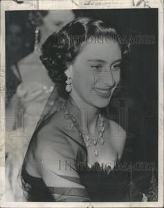1952 Press Photo Princess Margaret Black Tulle Dress Royal Film Show London | eBay