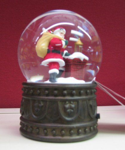 Hallmark Christmas 2012 LPR2343 Up On The Housetop Snow Globe -- You can get more details by clicking on the image.