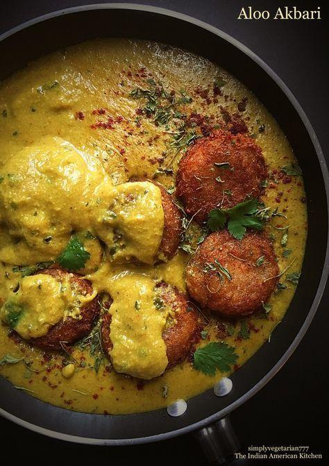Aloo akbari potatao kofta in vegan mughlai curry vegan recipes aloo akbari potatao kofta in vegan mughlai curry forumfinder Images