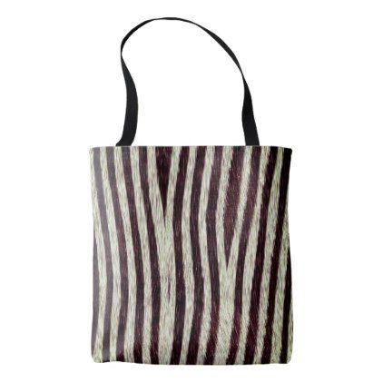 bda2ac93336a Exotic Faux Fur Zebra Stripes Animal Print Tote Bag - accessories accessory  gift idea stylish unique custom