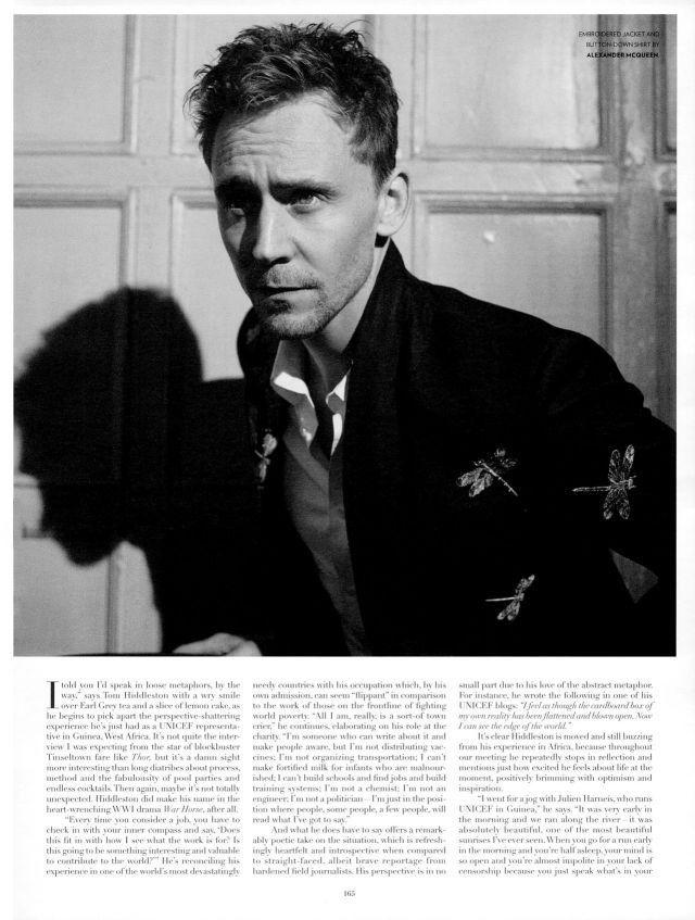 Tom Hiddleston in Flaunt magazine.