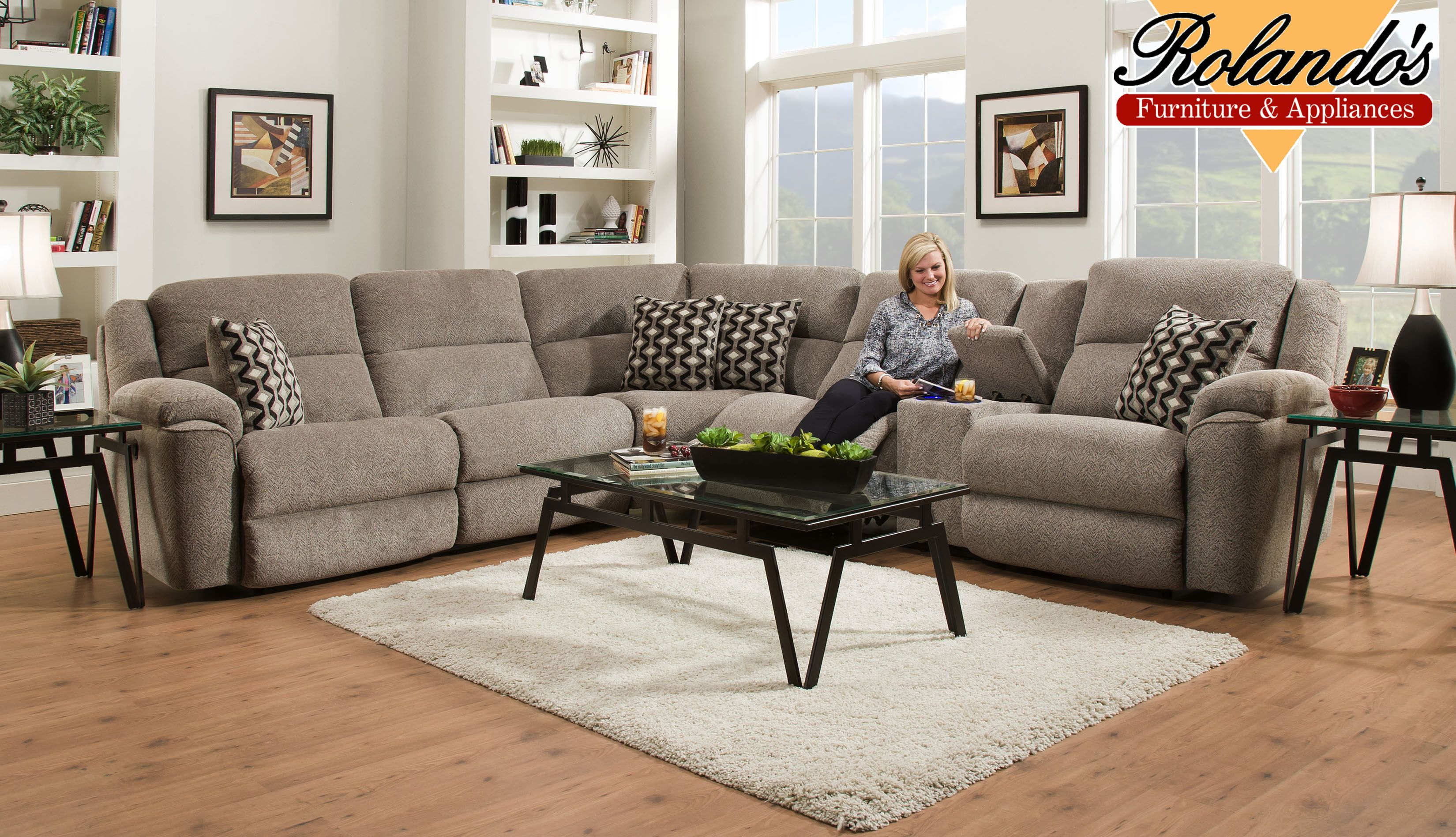 Sit Back And Relax In This Large Wedge Sectional Power Reclining Allows You To Put Yourself In The Exact Posi Furniture Reclining Furniture Sit Back And Relax