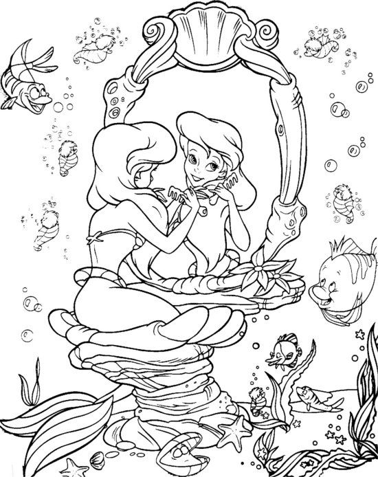 Disney The Little Mermaid Coloring Page Disney coloring