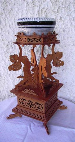 Fairies Vase Stand Scroll Saw Fretwork Pattern Scroll Saw Vase