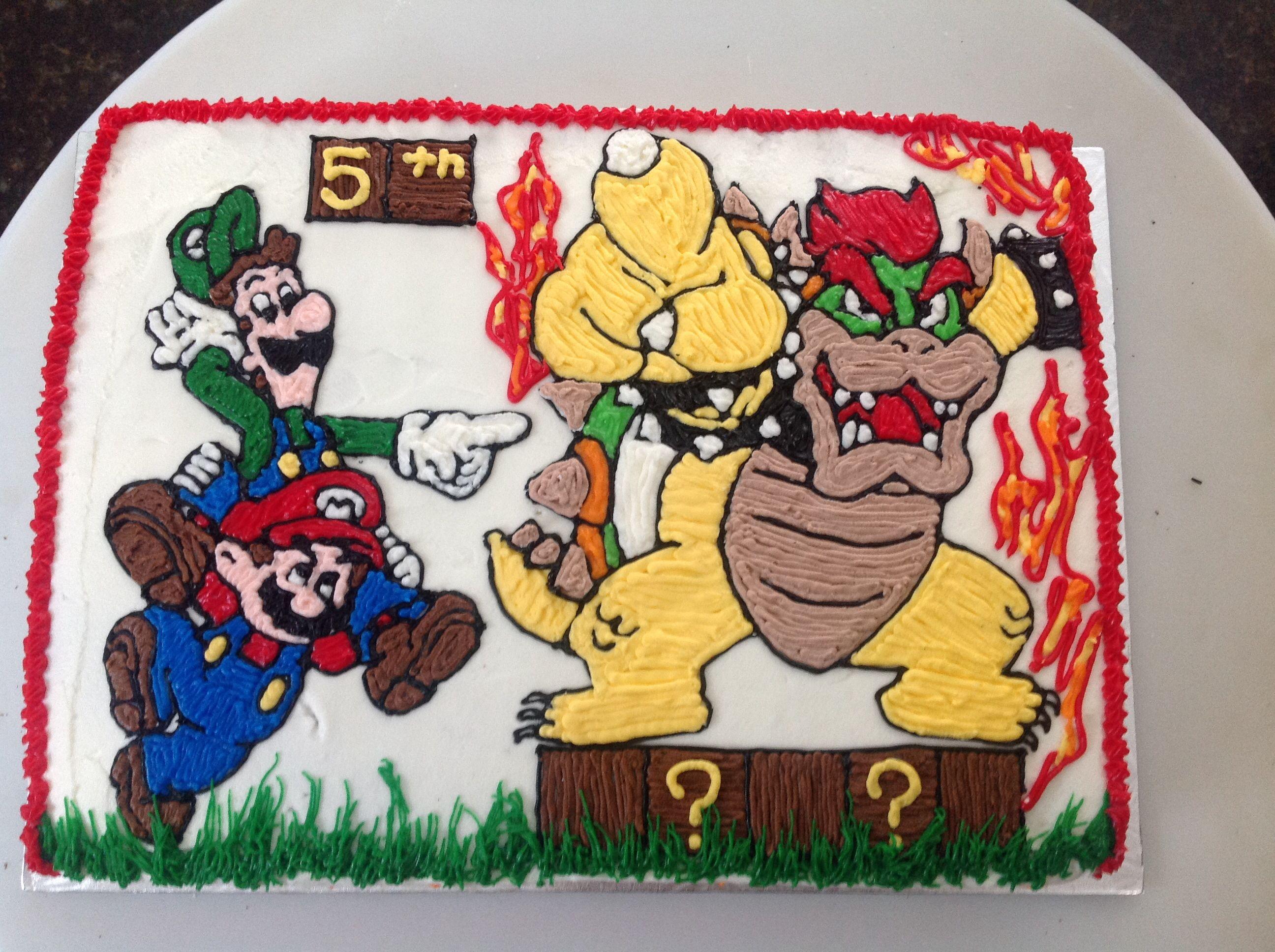 Mario Luigi And Bowser Cake
