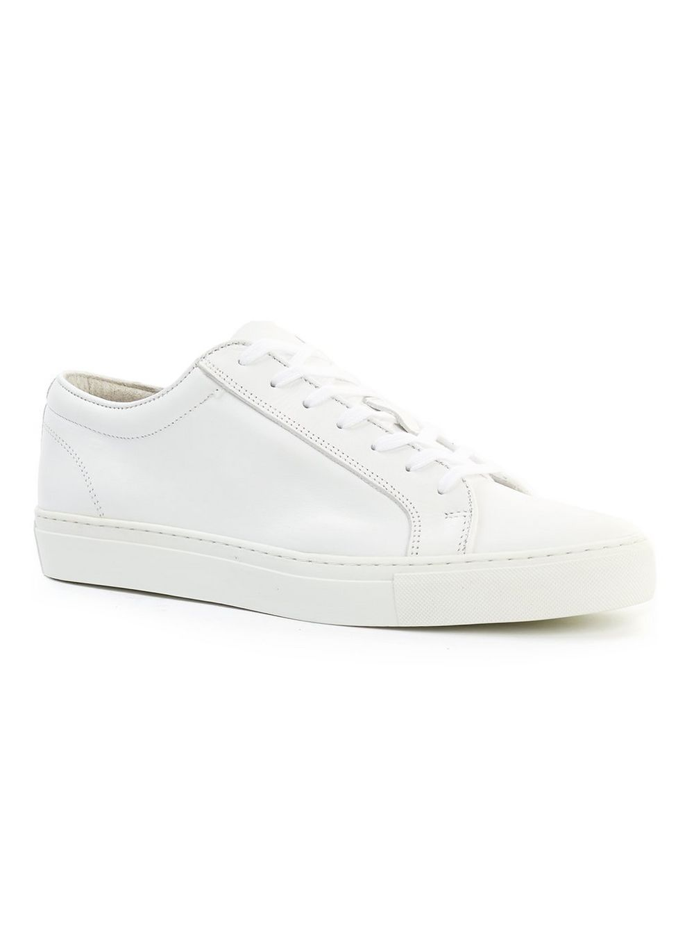 TOPMAN White Leather Trainers