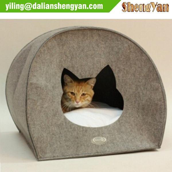 Animal Shape Felt Cat House Indoor | pet\'s | Pinterest | Pet ...