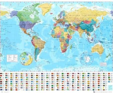 Small world political map poster google search scrapbook small world political map poster google search gumiabroncs Choice Image