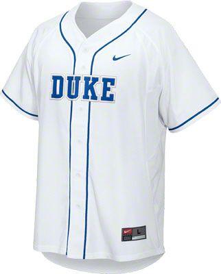 5952867d9a01 Duke Blue Devils White Nike Baseball Jersey  bluedevils  duke  college