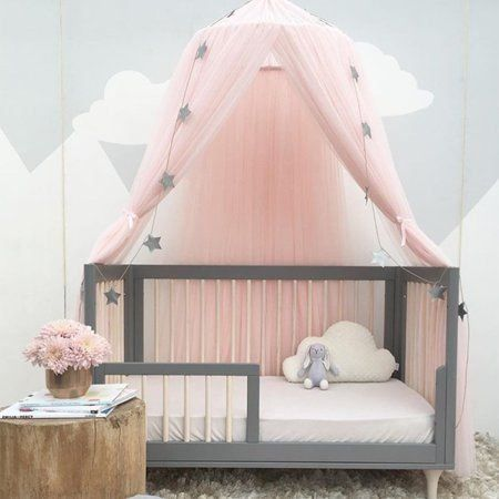 Kids Girls Bed Canopy Mosquito Net Curtains Decorative Baby Crib Curtain For Baby Toddlers And Teens Pin In 2020 Girls Bed Canopy Princess Canopy Bed Kids Bed Canopy