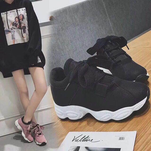 Korean running rubber shoes for women