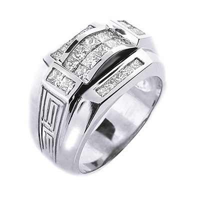 1 75 Ct Men S Diamond Ring Versace Design 14mm Wide Mens Wedding Rings
