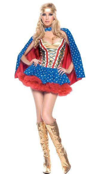 Sexy Hero Girl Costume Superhero and Costumes - barbie halloween costume ideas