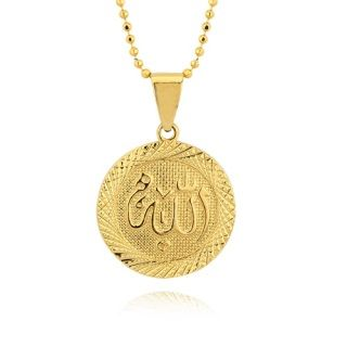 Allah pendant necklace gold tone chain necklace is included allah pendant necklace gold tone chain necklace is included aloadofball Choice Image
