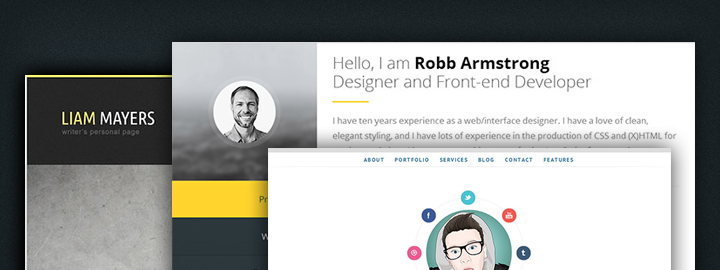 over 40 free paid wordpress themes for personal resumes httpwplift