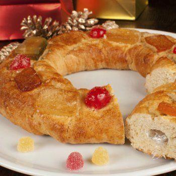 Roscón De Reyes Relleno De Trufa Sin Gluten Para Celiacos Comida De Navidad Roscón De Reyes Receta De Rosco