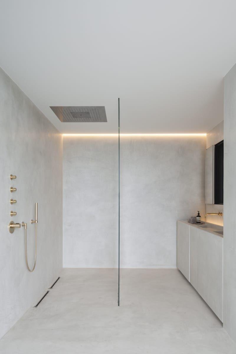 Salle De Bain Habitat ~ une salle de bains minimaliste en b ton cir d co am nagement