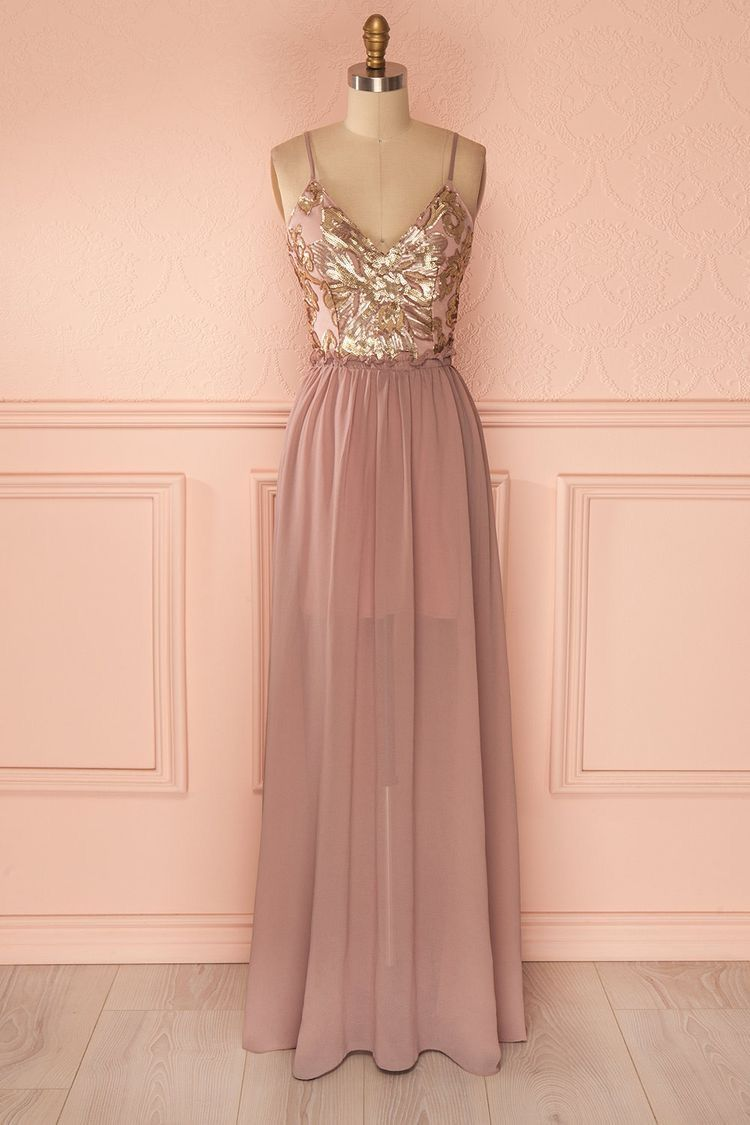 Rose Gold Bridesmaid Dress Vestidos Vestidos Pretos E Looks