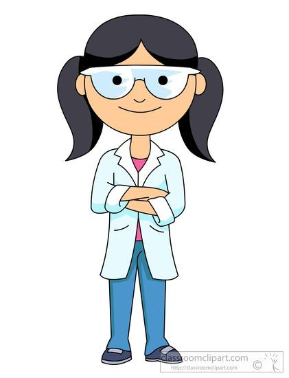 science girl science student wearing a lab coat and goggles