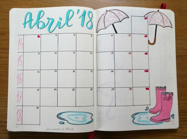 Bullet Journal Abril/April