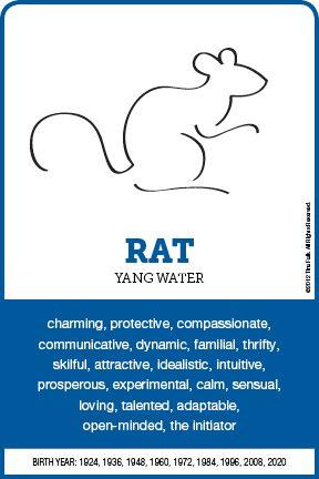 The Rat Personality Chinese Zodiac Rat Rat Zodiac Chinese Zodiac Signs