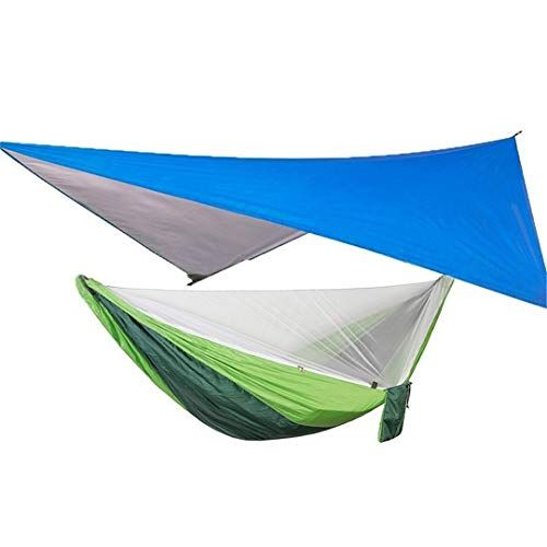 Uislns Portable Camping Hammock With Mosquito Net And Rain Fly Tarp Set Canopy Tent Outdoor C In 2020 Canopy Tent Outdoor Canopy Tent Outdoor Hammock