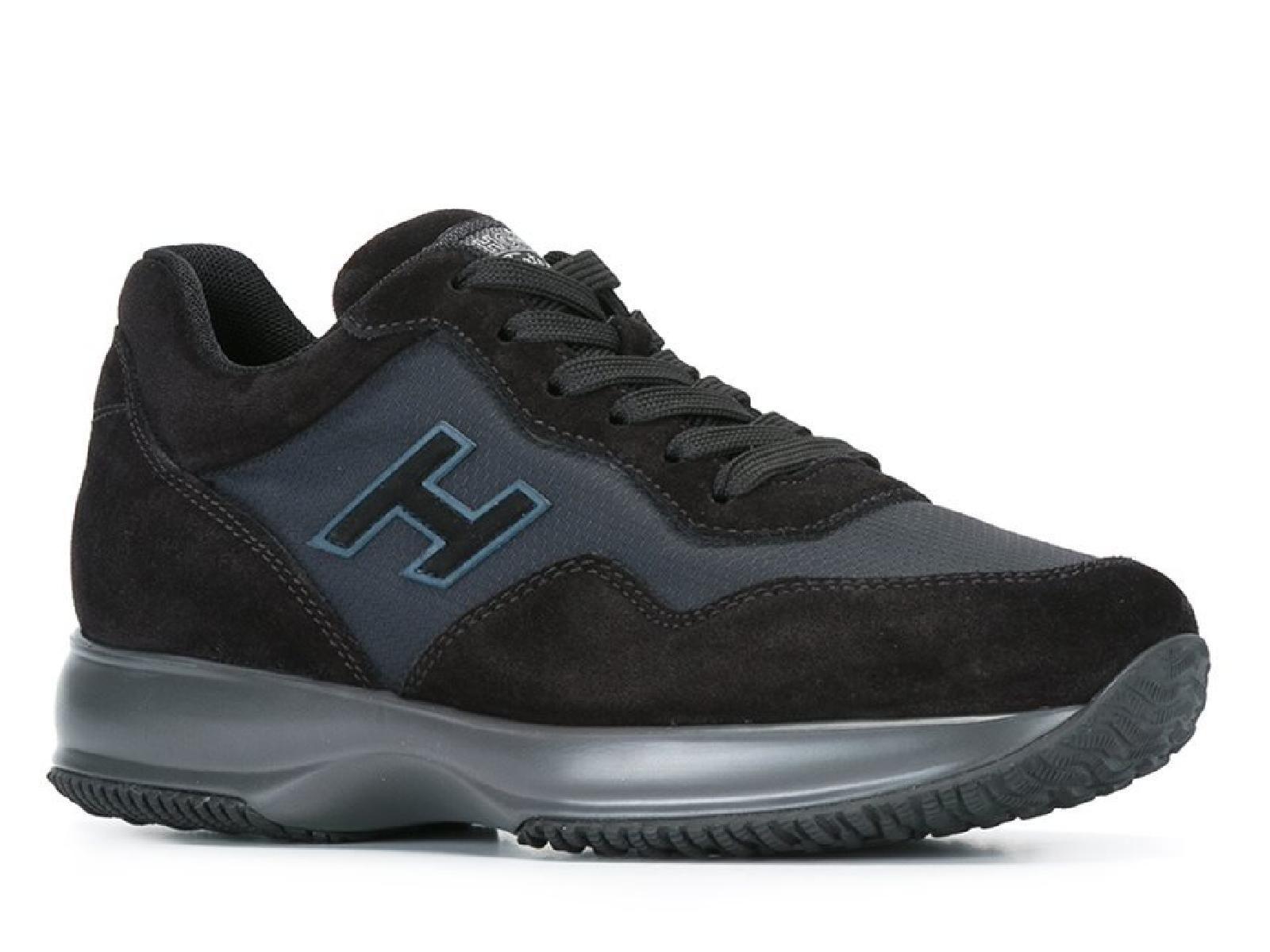 Hogan Interactive men's sneakers in black Suede leather - Italian ...