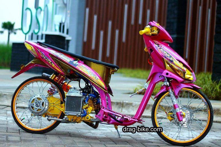 Modifikasi Vario Exclusive Merah Pink Honda Mobil Kartun