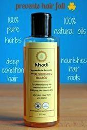 Sie schneller mit Khadi Hair Oil   Haa Rizinusöl kaltgepresst 500ml  100 reines Öl zur Pflege von Haut und Haaren Haare schneller wachsen lassen mit Khadi Haar&...