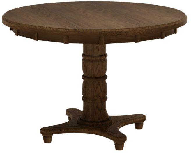 Lotus Round Table In Mahogany Oak From Erik Organic Table