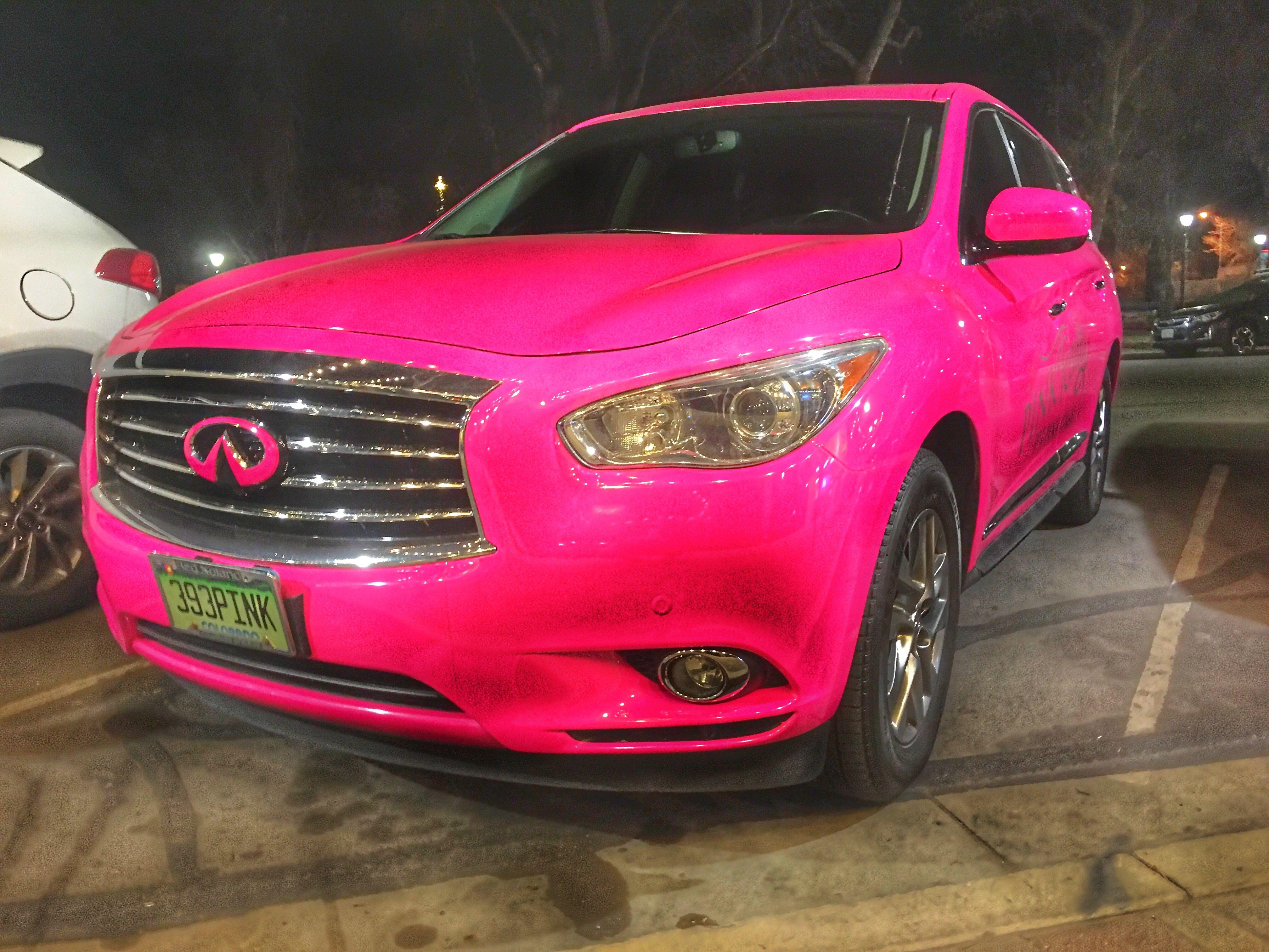 Pink Realty Car Pink Car Pink SUv Pink infiniti